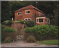 TG2138 : House overlooking Roughton - Felbrigg Road by Zorba the Geek