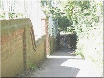 TQ8833 : Footpath to Tenterden station by Stephen Craven