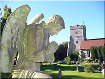 SU8985 : Guardian Angel, Cookham Churchyard by Colin Smith