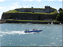 SY6878 : Nothe Fort from Commercial Pier by Brian