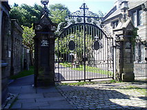 SH7400 : Gates to Plas Machynlleth by Eirian Evans