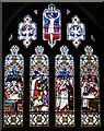 SO7854 : East Window, St. Leonard's, Cotheridge by Bob Embleton