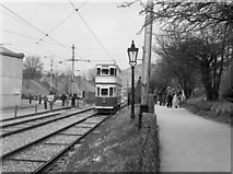 SK3454 : A Blackpool tram at Crich by Dr Neil Clifton