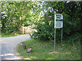 TF9615 : Entrance to Norfolk Herbs, edge of Gressenhall by Zorba the Geek