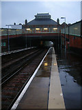 TQ7407 : Bexhill Station in the Rain by Simon Carey