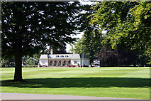 SP6737 : Cricket pitch and Pavilion, Stowe School by Richard Dear