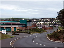 SM9537 : Leisure centre and new road by ceridwen