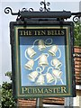 TM1359 : The Ten Bells Pub Sign by Keith Evans
