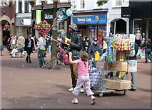 NY4055 : Bubble man in Carlisle by Rose and Trev Clough