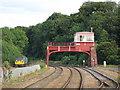 NY9464 : Hexham signal box by Mike Quinn