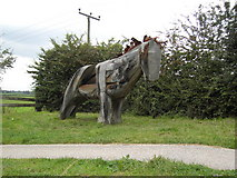 SJ6352 : Nantwich Horse Sculpture by Bill Pearson