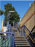 TQ2575 : Stairway, Wandsworth Town station by Derek Harper