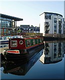 NT2472 : Reflections at Edinburgh Quay by Eileen Henderson