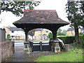 TQ2742 : Lych gate to Horley churchyard by Stephen Craven
