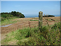 TG2639 : View across farmland to the North Sea by Evelyn Simak