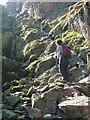NY2106 : Ascent of Foxes Tarn Gully by John Dyason