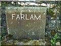 NY5558 : Farlam Parish marker stone by Rose and Trev Clough