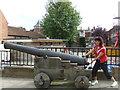 SK9771 : Cannon, outside Lincoln Castle by Richard Dawson
