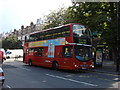 TQ2785 : Number 168 Bus stopping on Haverstock Hill by Oxyman