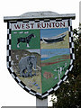 TG1742 : West Runton - village sign by Evelyn Simak