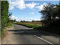 TG2933 : Looking north towards Knapton Green on Knapton Road (B1145) by Evelyn Simak