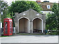 TL9640 : Bus Shelter Former Fire Station by Keith Evans