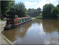SJ2837 : Canal basin at Chirk by Trevor Rickard