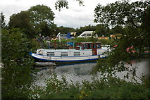 ST6668 : Boat moored on the River Avon by Philip Halling
