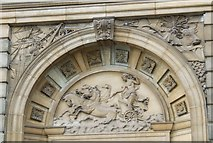 NS2776 : Ornate carving on Greenock Town Hall by Thomas Nugent