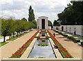 TL4059 : American War Memorial looking towards the chapel by Jonathon Stenner