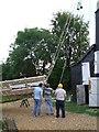 TL4462 : Fitting the sails, Impington Windmill - 3 by Gareth Hughes