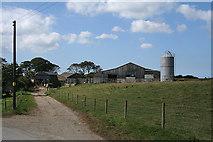 SX2593 : North Petherwin: barns at Maxworthy by Martin Bodman