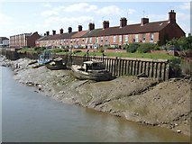 TF3243 : Terraced houses by the River Witham, Boston by Dave Hitchborne