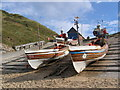 TA2372 : Fishing Boats At North Landing by Stephen Horncastle