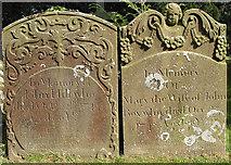 SO5928 : 18th Century gravestones, St. Mary's churchyard, Foy by Pauline E