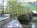SK1258 : Frank-i'-th'-rocks footbridge over River Dove by Alan Heardman