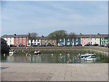 SN4562 : Aberaeron Dock by Edward Williams