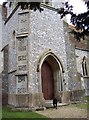 SU2140 : Doorway to St Andrew's Church, Newton Tony by Maigheach-gheal