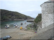 SW9980 : Port Isaac harbour by Trevor Rickard