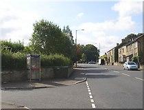 SE1321 : Telephone box, Crowtrees Lane, Rastrick by Humphrey Bolton