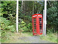 NS3598 : Old red telephone box by Stephen Sweeney
