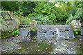 NZ3067 : Weir on Wallsend Burn by Mac McCarron