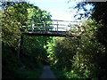 NY0230 : Footbridge over cycle track by H Stamper