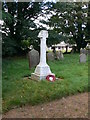 SJ4919 : War Memorial at Preston Gubbals churchyard by Eirian Evans