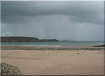 SS0197 : Heavy Shower over Freshwater East Bay by Pauline E
