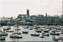SW4730 : Penzance: harbour and church by Chris Downer