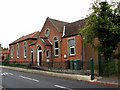 TG0923 : Station Road past Methodist Church by Evelyn Simak