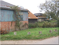 TM0663 : Farm buildings, Brown Street by Andrew Hill