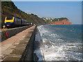 SX9574 : South Devon Railway Sea Wall by Paul Anderson