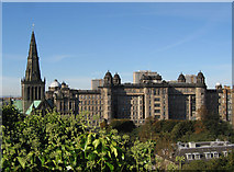 NS6065 : Glasgow Cathedral and Royal Infirmary by wfmillar